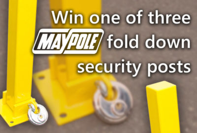Securing your caravan with driveway posts and win! thumbnail