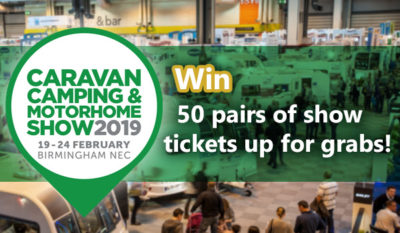 Win tickets to the Caravan, Camping and Motorhome Show 2019 thumbnail