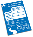 Request your free motorhome dimensions sticker here