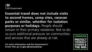 Coronavirus non-essential travel