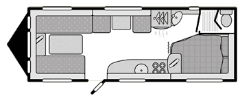 Swift Challenger 625 floorplan