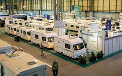 Selection of caravans at the NEC, Birmingham