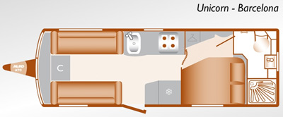 Bailey Unicorn Barcelona floorplan