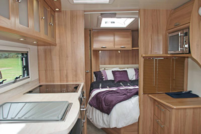 Fixed double bed option in the Valencia