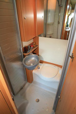 The washroom inside the Nexxo T 569