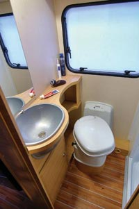 The wash room in the Auto Roller