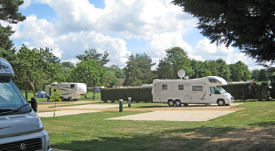 Large motorhomes accomodated