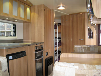 Bailey Pegasus II Ancona triple bunks and corner shower room