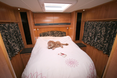 Auto Trail Comanche sleeping area