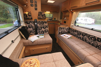 Elddis Autoquest Living area