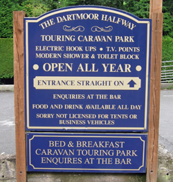 The Dartmoor Halfway Touring caravan Site