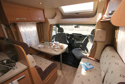 Chausson Flash 22 interior looking forward