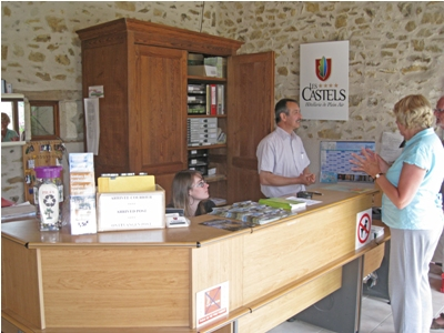 Reception and M Petit the owner