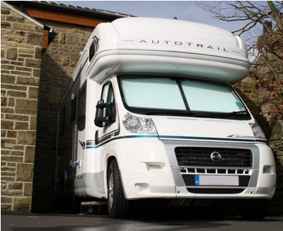 parked up motorhome