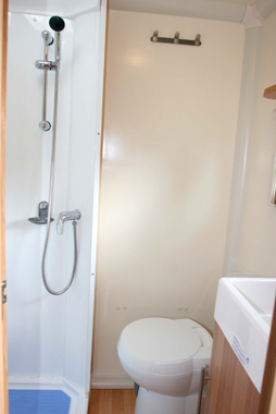 Bailey Olympus 2 compact well-equipped shower room