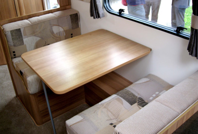 Bailey Olympus 2 extra wide dinette