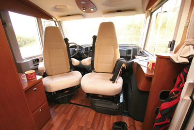 Hymer B534 Cab Swivel Seats