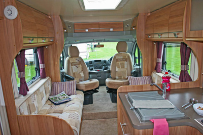 Bailey Approach 740 SE Motorhome parallel seating