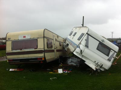 collided caravans