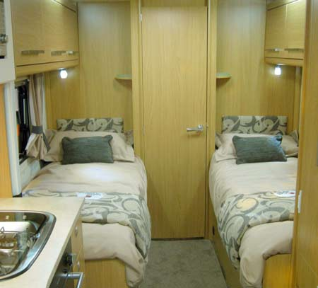 Elddis Avante Twin single beds
