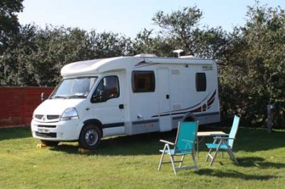 Motorhome in sunshine