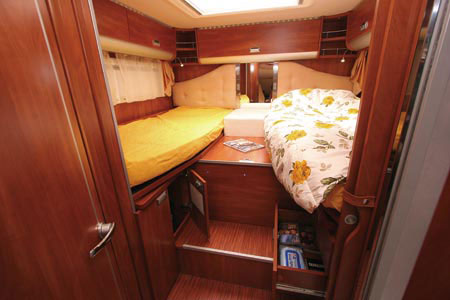 Twin beds in the Laika