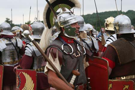 The Romans returning to Wroxeter
