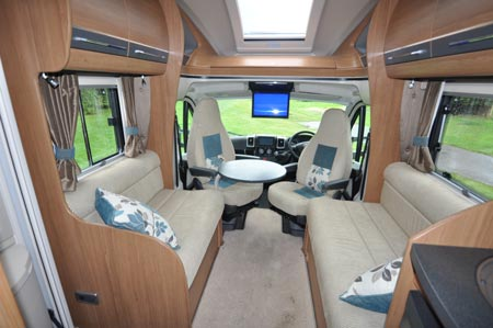 auto trail cab seating area
