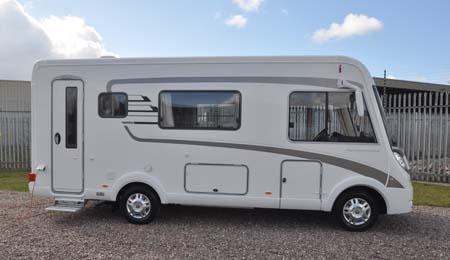 The 2013 Hymer B544 motorhome exterior