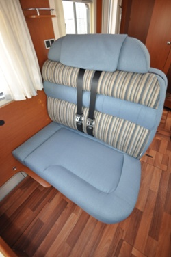 Hymer B544 motorhome seating interior