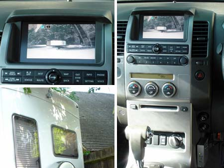 How a reversing camera would look on your vehicles dashboard
