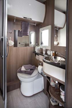 2013 Chausson Welcome 69 motorhome toilet
