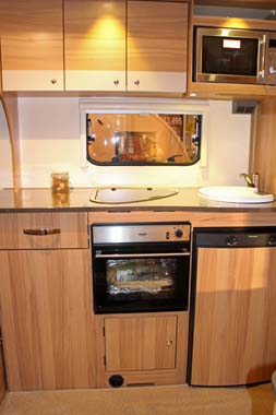 Example Kitchen from Bailey Pursuit Caravan range