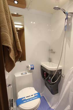 Bailey Approach Compact 520 Motorhome Shower Room