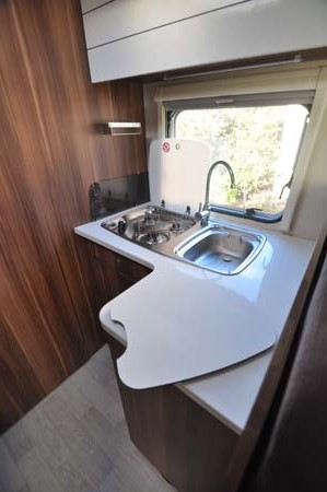 Roller Team T-Line 590 Motorhome Kitchen