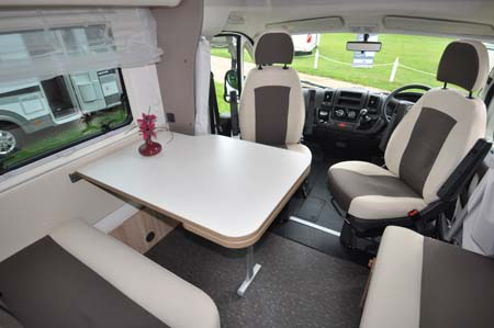 Adria Matrix Axess front lounge area