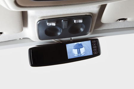 Reversing cameras are a common optional extra on motorhomes