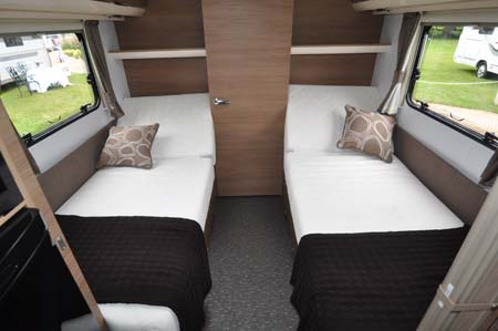 2014 Adria Adora Seine twin beds