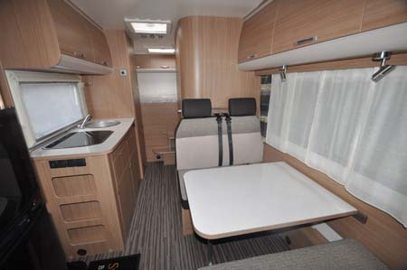 Sunliving A49 DP motorhome dining