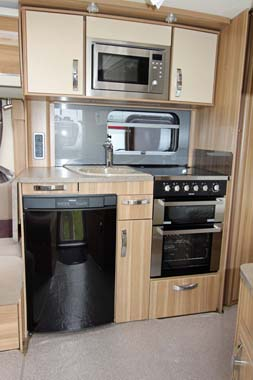 Swift Sterling Amber Elite kitchen area
