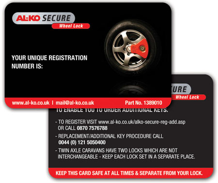 ALKO Secure Pin Card