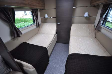 Adria Astella Amazon Glam motorhome beds