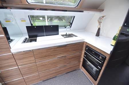 Adria Astella Amazon Glam motorhome kitchen