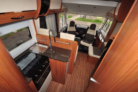 Adria Sonic Plus I 700 SC motorhome kitchen