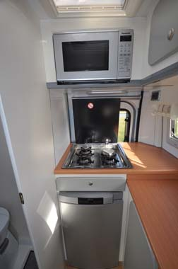 Murvi Morocco XL motorhome cooker and microwave