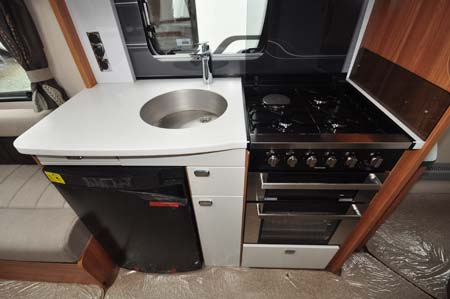 Swift elegance 580 caravan review style and quality prevail - Caravan kitchen sink ...