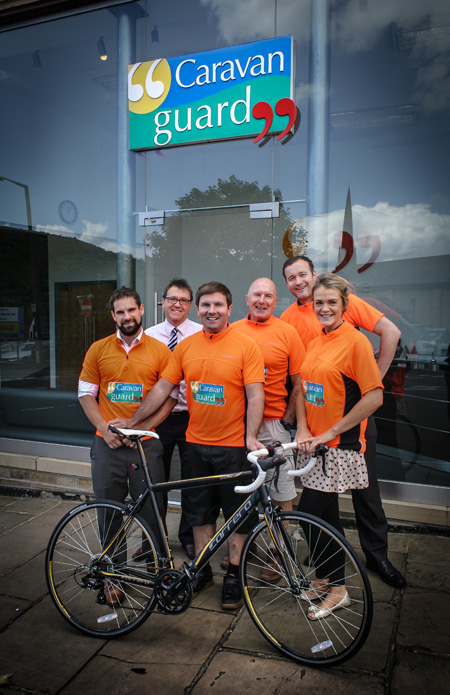 Caravan Guard's team for the Great Yorkshire Bike Ride 2014