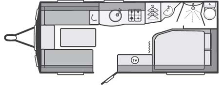Swift Challenger Sport 514 floor plan