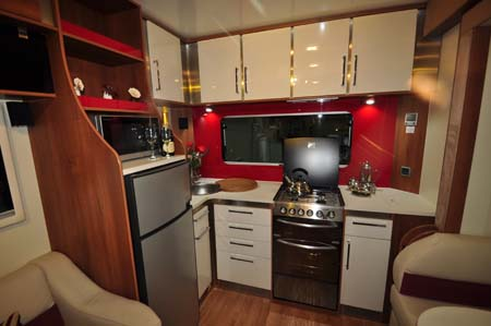 Fifth Wheel Celtic Rambler Kitchen