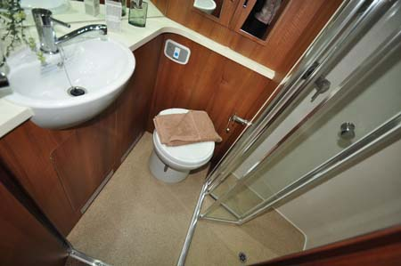 Fifth Wheel Celtic Rambler Shower Room